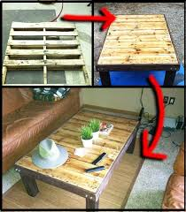how to make a wooden pallet coffee table top diy ideas