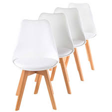 my sit design retro dining chair set of 4 zura in white home