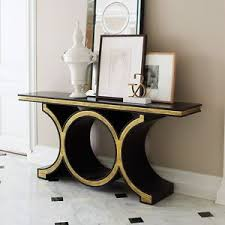 black lacquer console table 72 wide console table solid wood satin black lacquer finish gold
