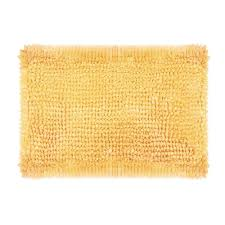 Laura Ashley Bathroom Furniture by Laura Ashley Butter Chenille 17 In X 24 In Bath Mat In Yellow
