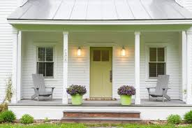green front porch light light green front door porch farmhouse with metal roof street