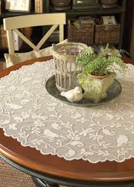 round table mt shasta lace table overlays round table mt shasta allocine 100 lace table