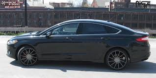 ford fusion hubcap 2010 ford fusion niche surge m114 wheels black machined w tint