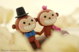 monkey cake topper decor monkey wedding cake topper k775 2458474 weddbook