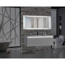 Rectangular Bathroom Mirrors Encore 70 In W X 27 In H Rectangular Led Illuminated Bathroom