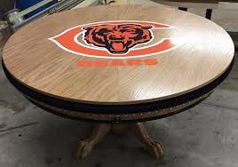 round poker table with dining top round chicago bears sports themed poker tables round sports themed