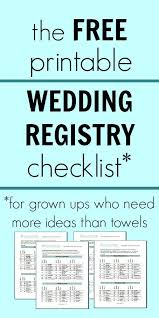 gift registry ideas wedding wedding gift registry checklist printable lading for