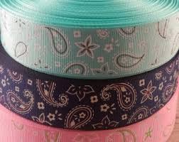 paisley ribbon etsy