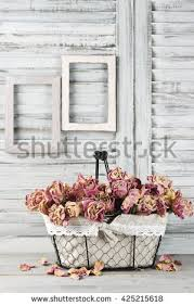 Shabby Chic Kitchen Blinds Shabby Chic Still Life Bunch Vintage Stock Photo 557786128