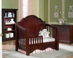 Cribs That Convert Into Beds Amusing Traditional Mahogany Wood Crib Converted Into Todler Bed