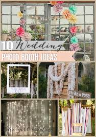 photo booth ideas 10 diy wedding photo booths the girl creative
