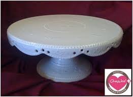 16 Inch Pedestal Cake Stand Onewed Loves This Handmade One Of A Kind Antique White