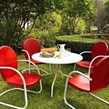 Red Patio Set by Steel Patio Furniture Sets Foter