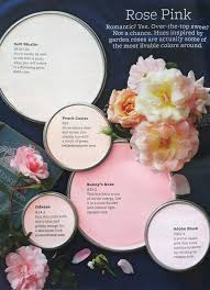 pink hues inspired by garden roses paint colors used soft muslin
