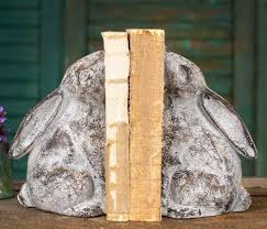 rabbit bookends cast iron rabbit bookends shabby distressed market