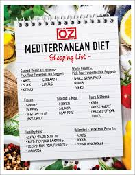 dr oz u0027s mediterranean diet shopping list the dr oz show