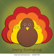 thanksgiving material happy thanksgiving material turkey card stock vector 110027702