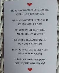 register for wedding gifts best 25 wedding gift poem ideas on honeymoon fund