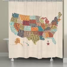 Shower Curtain Map Buy Map Shower Curtain From Bed Bath U0026 Beyond