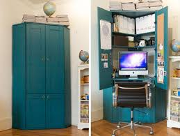 Corner Desk Armoire S Tucked In A Corner Hideaway Armoire Home Office