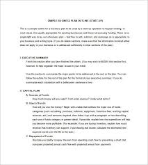 business plan outline example trend markone co