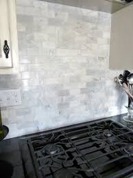 kitchen backsplash white marble subway tile backsplash marble