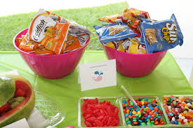 Pool Party Ideas Goldfish Crackers Fit The Theme But The Chips Were More Popular