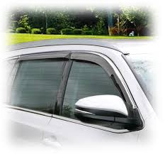 truck rear window guard tape on outside mount window visors rain guards shades wind