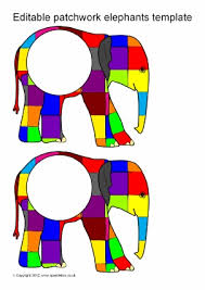 Elmer The Patchwork Elephant Story - elmer teaching resources story sack printables sparklebox