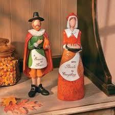 thanksgiving pilgrim statues american indian pilgrim thanksgiving figurines set of 4