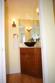 Bathroom Corner Vanity by Corner Bathroom Vanities Spaces Contemporary With Bathroom Corner