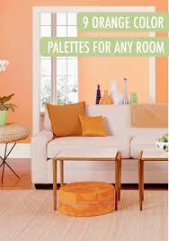 orange interior paint home design