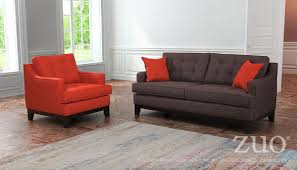 Charcoal Living Room Furniture Zuo Chicago Sofa In Burnt Orange U0026 Charcoal Boost Home