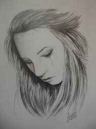 sad drawings of people crying crying realistic art pencil drawing