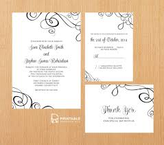wedding invitations rsvp free pdf templates easy to edit and print at home ribbon