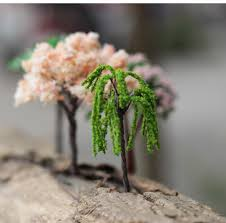hermoso mini tree terrarium figurines garden miniature resin craft