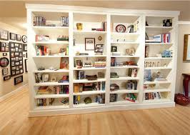 Custom Bookcase Custom White Bookcases And Media Cabinet In Columbia Maryland