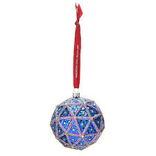 waterford 4 2017 times square blown glass ornament w