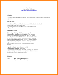Resume Samples Letters by Comprehensible Clerical Resume Sample With Name Address Letterhead