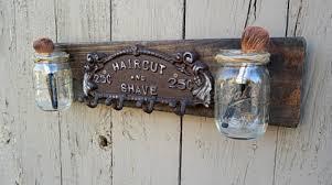 Mason Jar Bathroom Organizer Artsy Bathroom Accessories
