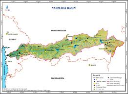 Map Of India With States And Cities by Narmada