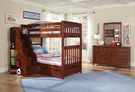 Stair Bunk Beds Inspiring Used Bunk Bed With Stairs Safe And Right Bedroom