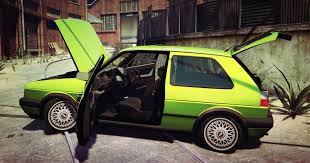 green volkswagen golf volkswagen golf mk2 gta5 mods com