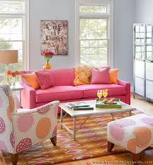 Wonderful Pink Living Room Furniture With  Pretty In Pink Living - Pink living room design