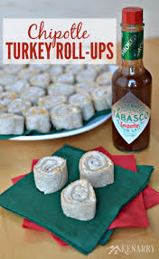 delicious party food chipotle turkey roll ups