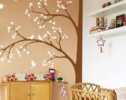 Brown Tree Wall Decal Nursery Brown Tree Decal Etsy
