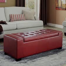 masculine storage ottoman red u2014 railing stairs and kitchen design