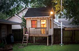 Backyard Play House A Home At The End Of The Yard Houstonia