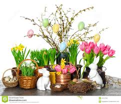 Flowers Home Decoration by Home Decoration With Spring Flowers Easter Eggs Stock Photo