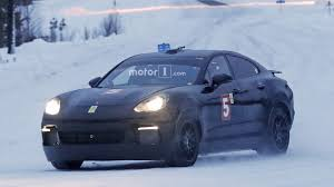porsche mission e charging porsche mission e might be hiding underneath this spied panamera